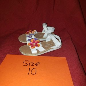 6pair of slip on shoes / sandals  girls size 10